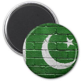 Flag of Pakistan 6 Cm Round Magnet