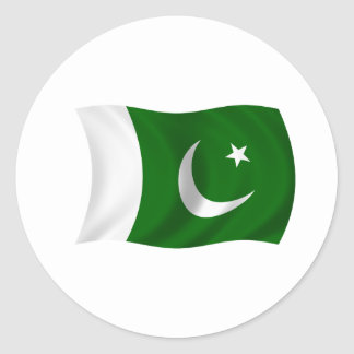 Flag of Pakistan Classic Round Sticker