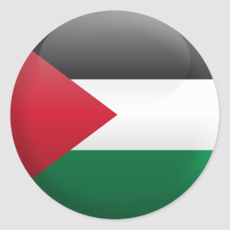 Flag of Palestine Classic Round Sticker