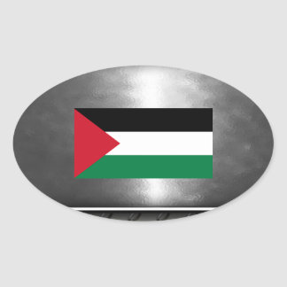 Flag of Palestine Oval Sticker