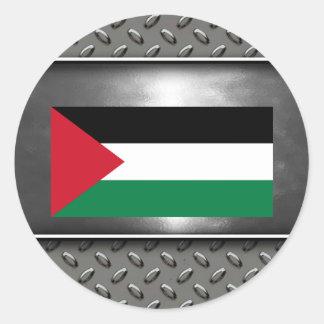 Flag of Palestine Round Sticker