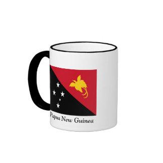 Flag of Papua New Guinea Ringer Mug