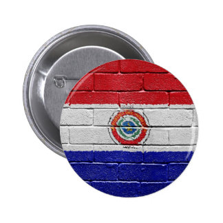 Flag of Paraguay 6 Cm Round Badge