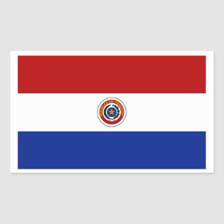 Flag of Paraguay Rectangular Sticker