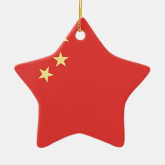 Flag of Peoples Republic of China Ceramic Star Decoration