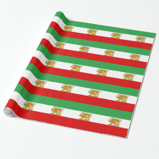 Flag of Persia / Iran (1964-1980) Wrapping Paper