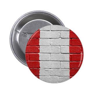 Flag of Peru 6 Cm Round Badge
