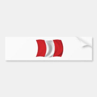 Flag of Peru Bumper Sticker