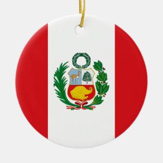 Flag of Peru Christmas Ornament