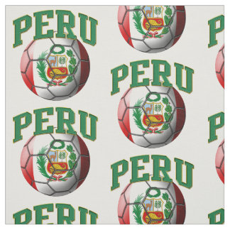 Flag of Peru Peruvian Soccer Ball Pattern Fabric