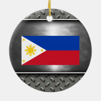 Flag of Philippines Round Ceramic Decoration