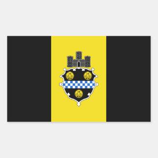Flag of Pittsburgh, Pennsylvania Rectangular Sticker