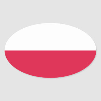 Flag of Poland Oval Sticker