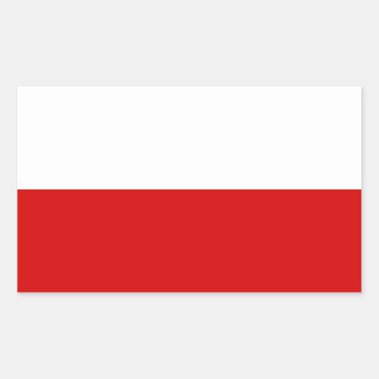 Flag of Poland Rectangular Sticker