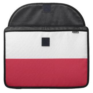 Flag of Poland Rickshaw Flap Sleeve Sleeves For MacBook Pro