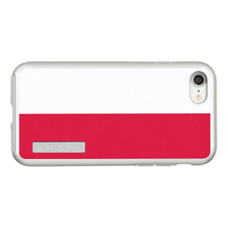 Flag of Poland Silver iPhone Case