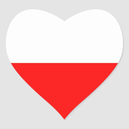 Flag of Poland Heart Stickers