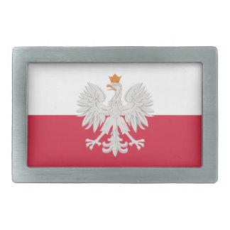 Flag of Poland White Eagle Belt Buckle