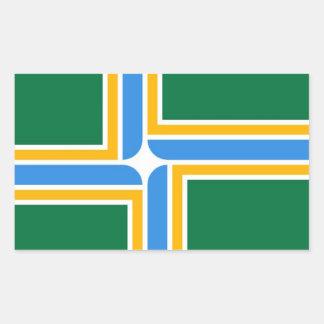 Flag of Portland Rectangular Sticker
