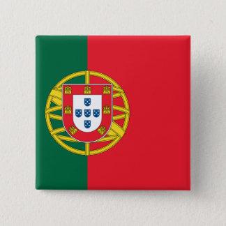Flag of Portugal 15 Cm Square Badge