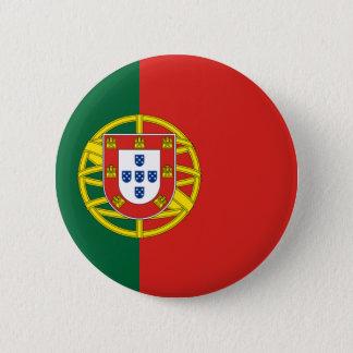 Flag of Portugal 6 Cm Round Badge