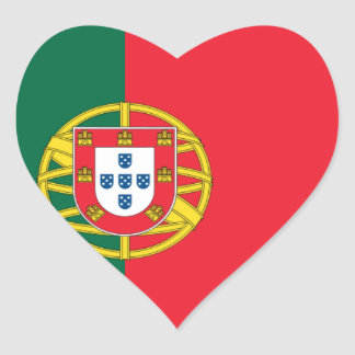 Flag of Portugal Heart Sticker