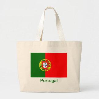 Flag of Portugal Large Tote Bag