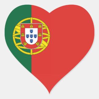 Flag of Portugal Heart Sticker