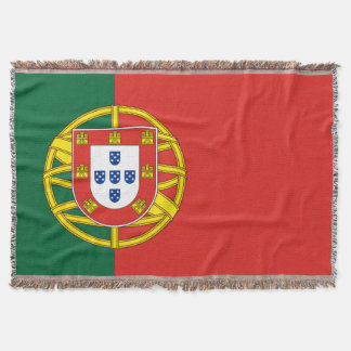Flag of Portugal Throw Blanket