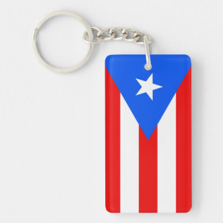 Flag of Puerto Ric Acrylic Keychain (Single Sided)