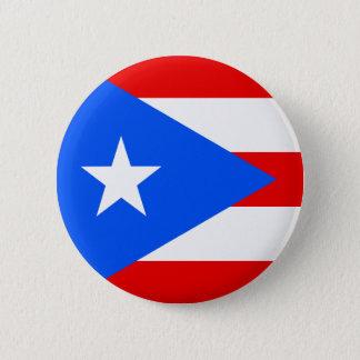 Flag of Puerto Rico 6 Cm Round Badge