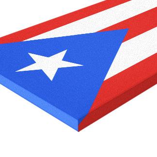 Flag of Puerto Rico Canvas Prints