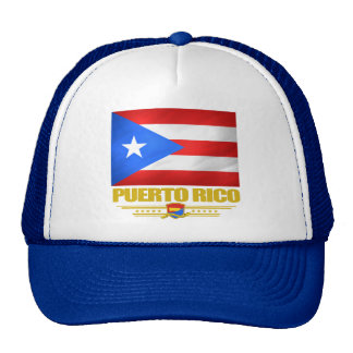 Flag of Puerto Rico Mesh Hats