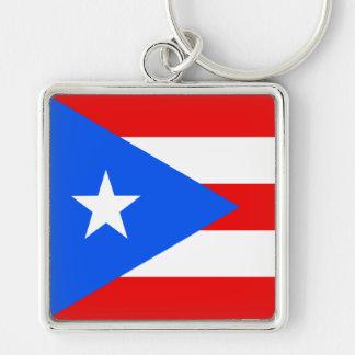 Flag of Puerto Rico Key Ring