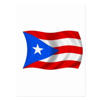 Flag of Puerto Rico Postcard