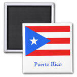Flag of Puerto Rico Square Magnet