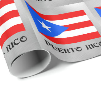 Flag of Puerto Rico Wrapping Paper