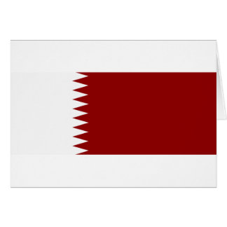 Flag of Qatar Card