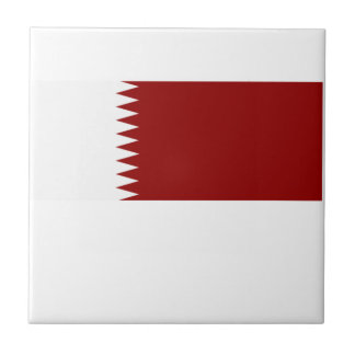 Flag of Qatar Small Square Tile