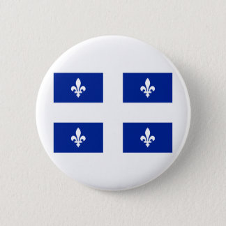 Flag of Quebec 6 Cm Round Badge