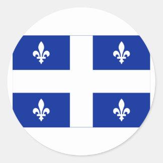 Flag of Quebec, Canada Classic Round Sticker