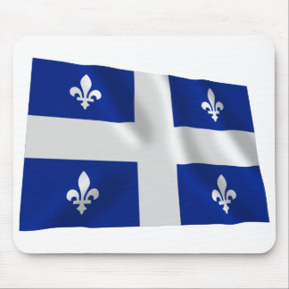 Flag of Quebec, Canada Mouse Mat