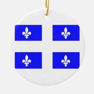 Flag of Quebec Christmas Ornament
