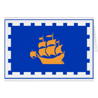 Flag of Quebec City Card