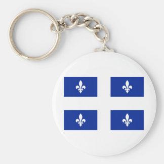 Flag of Quebec Key Ring