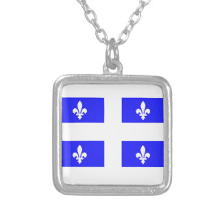 Flag of Quebec Silver Plated Necklace