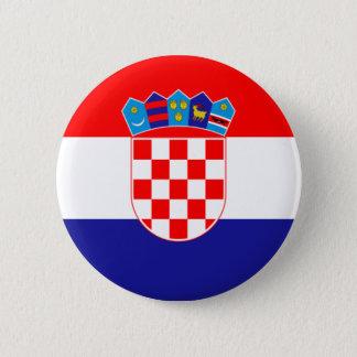 Flag of Republic of Croatia 6 Cm Round Badge