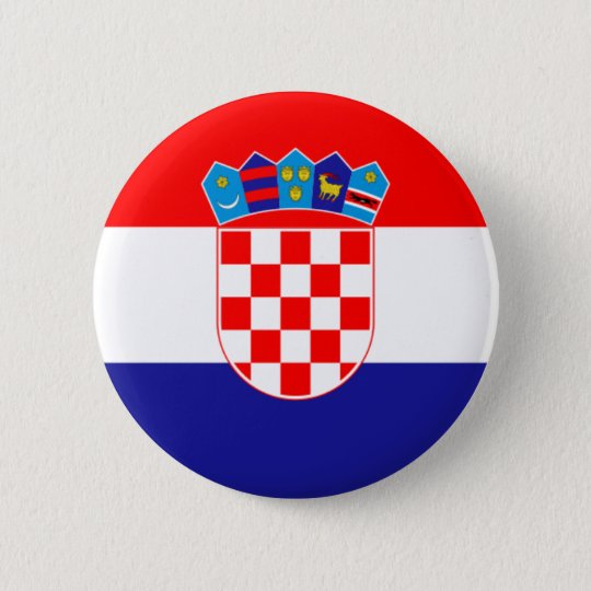 Flag of Republic of Croatia 6 Cm Round