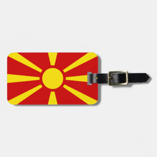 Flag of Republic of Macedonia Luggage Tag