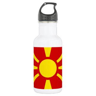 Flag of Republic of Macedonia 532 Ml Water Bottle